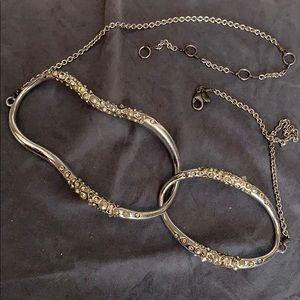 Alexis Bittar necklace Swarovski stainless